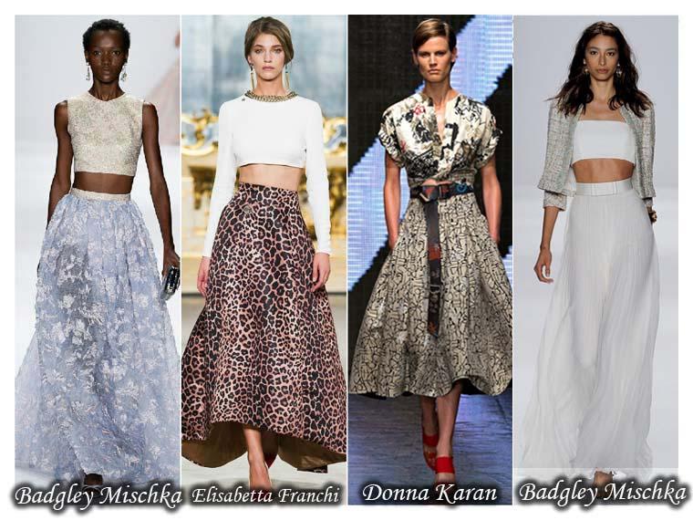 Fuste lungi la moda vara 2015
