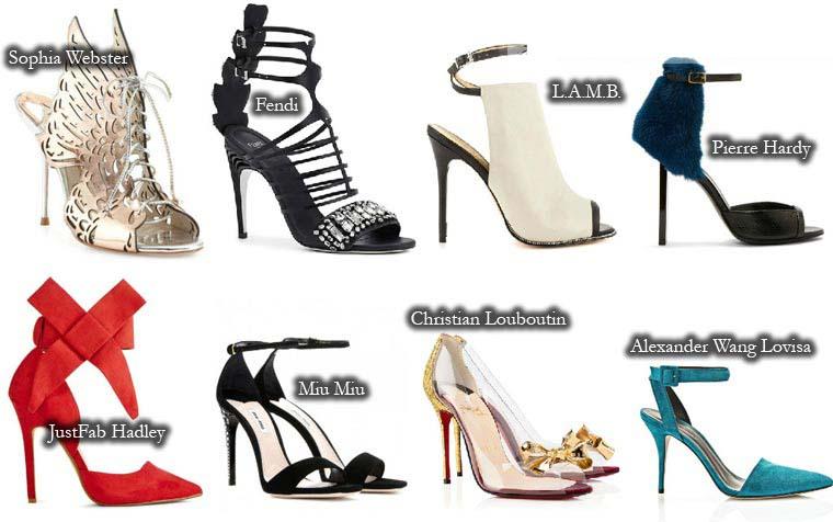 Sandale cu toc cui vara 2015