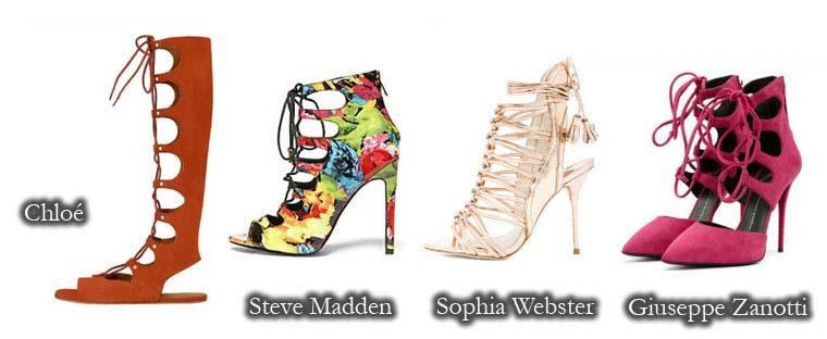 Sandale la moda cu sireturi 2015