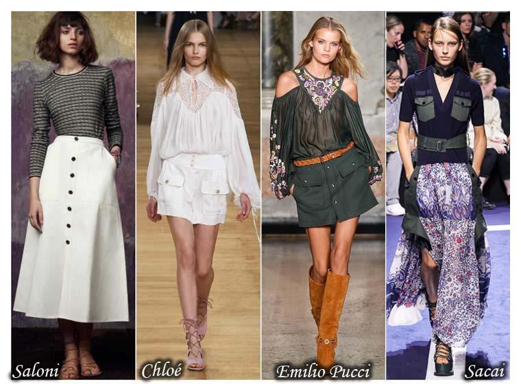 Fuste dama la moda vara 2015 cu buzunare