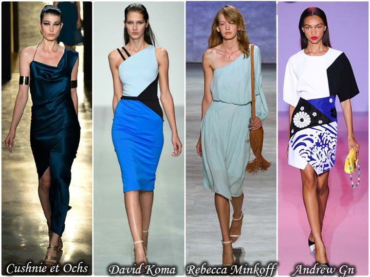 Modele asimetrice rochii dama vara 2015
