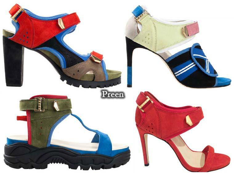 Sandale la moda vara 2015 de la Preen