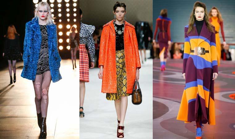 Paltoane in culori aprinse toamna 2015 iarna 2016