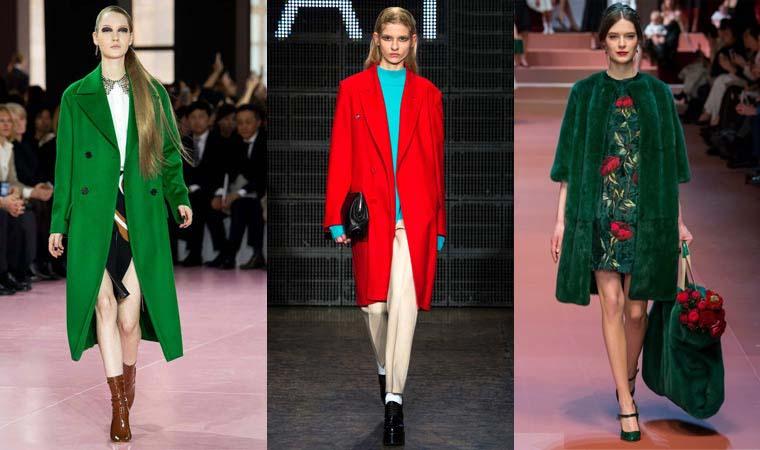 Palton la moda in culori aprinse toamna-iarna 2015-2016