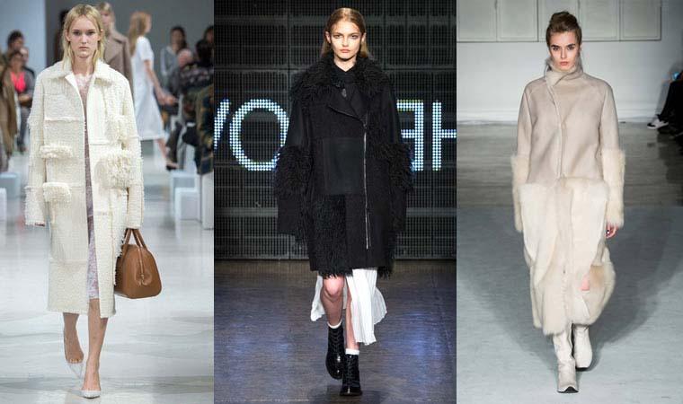 Paltoane din stofe cu facturi diferite toamna-iarna 2015-2016