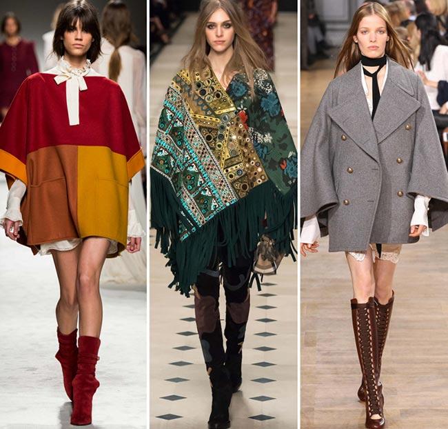 Tendinte moda toamna-iarna 2015-2016 cape si poncho