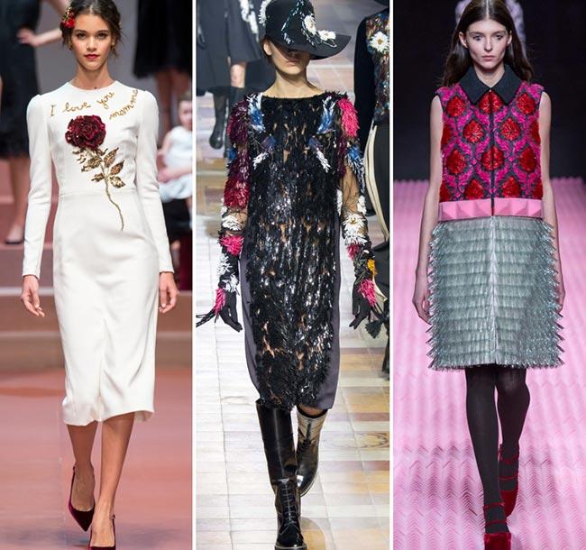 Tendinte moda toamna-iarna 2015-2016 ornamente 3D si decor