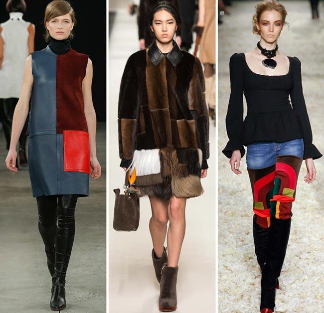 Tendinte moda toamna-iarna 2015-2016 patchwork