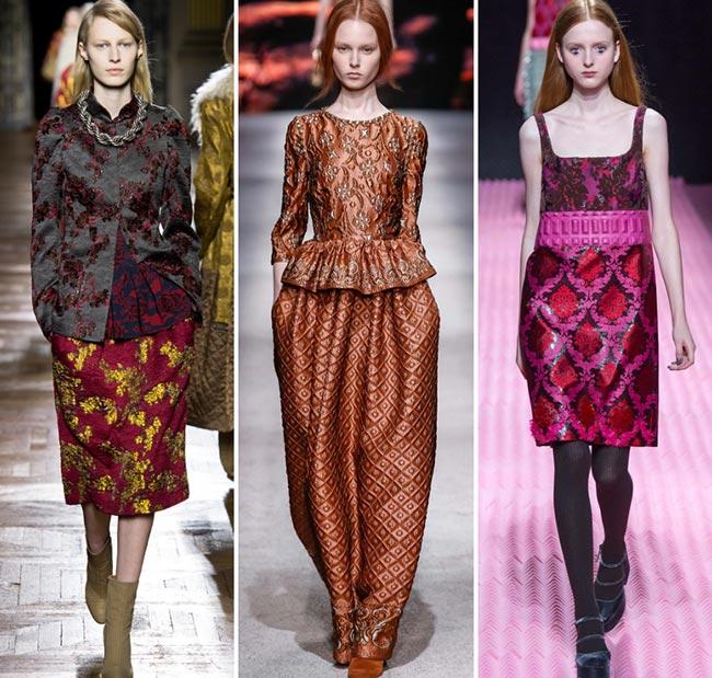 Tendinte moda toamna-iarna 2015-2016 brocart
