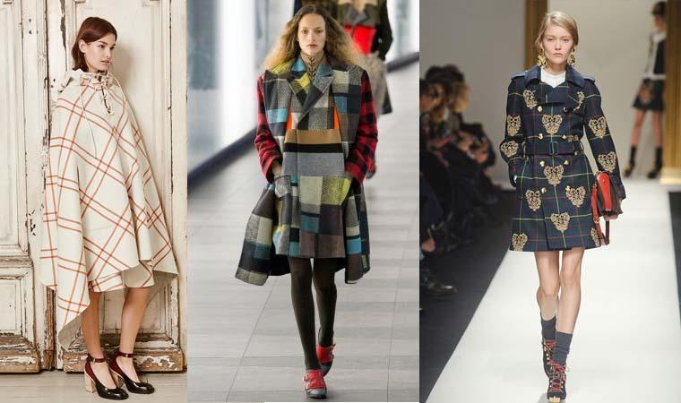 Palton la moda in carouri toamna-iarna 2015-2016
