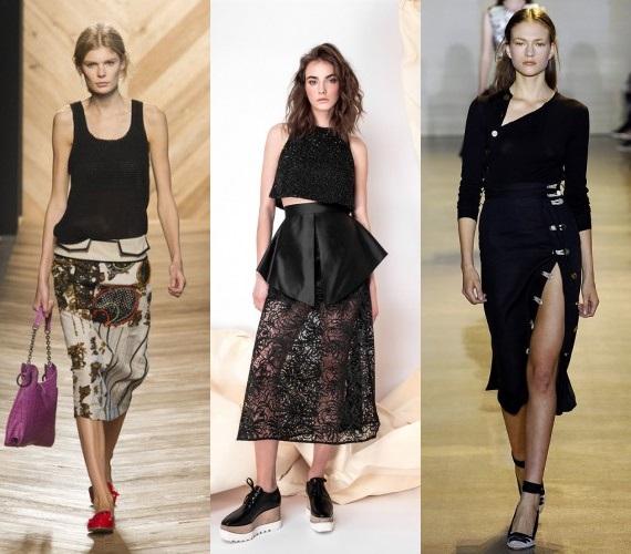 Fusta neagra la moda