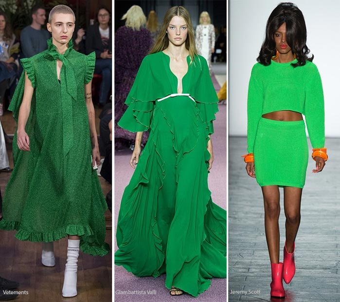 Ce culoare se poarta in 2016 verde vibrant