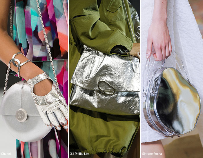Posete culoare metalic la moda