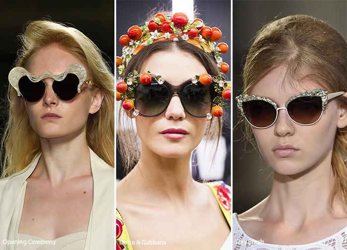 Ochelari de soare primavara vara 2016: decor