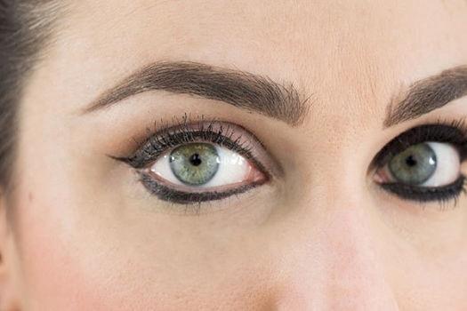 Eyeliner lichid pe pleoapa inferioara