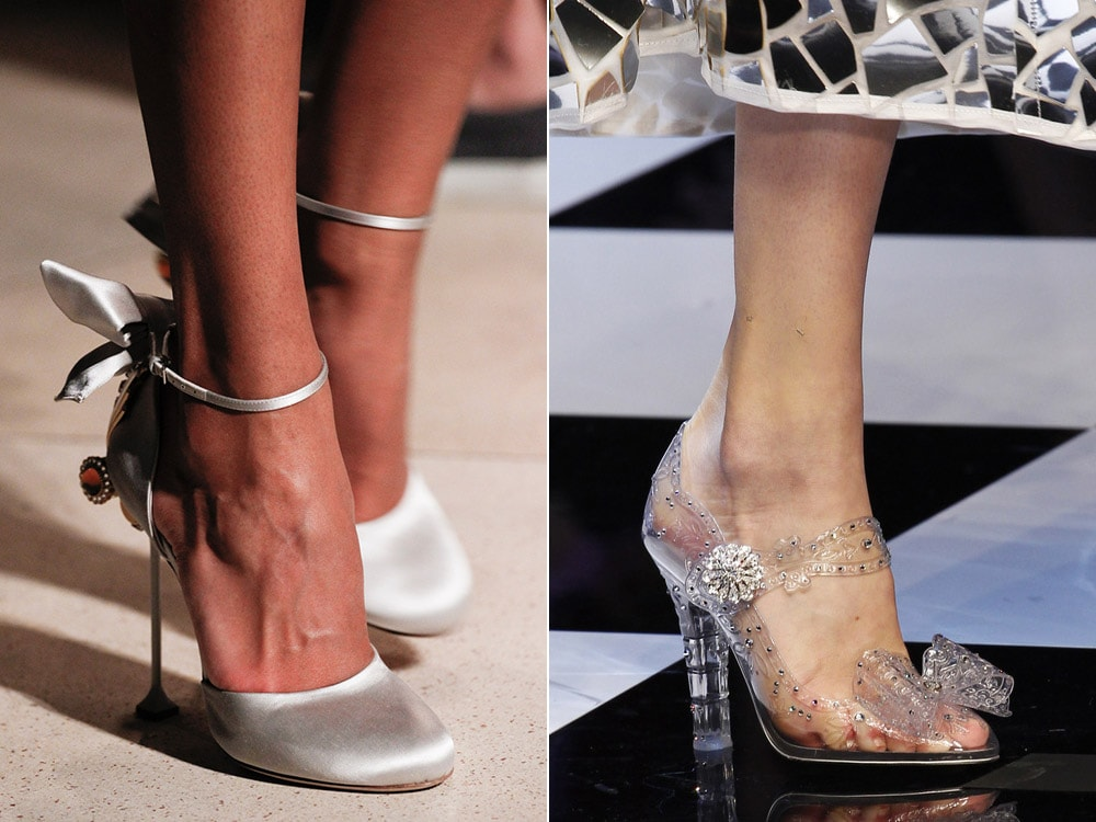Pantofi cu toc mediu si bareta