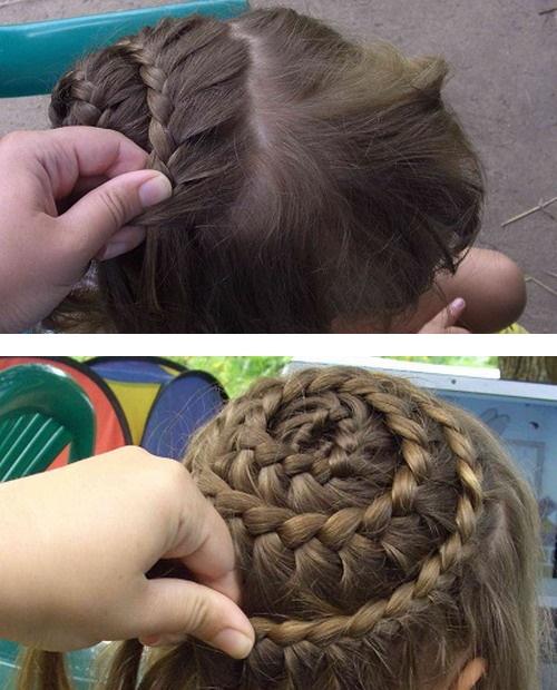 Coafuri impletite copii