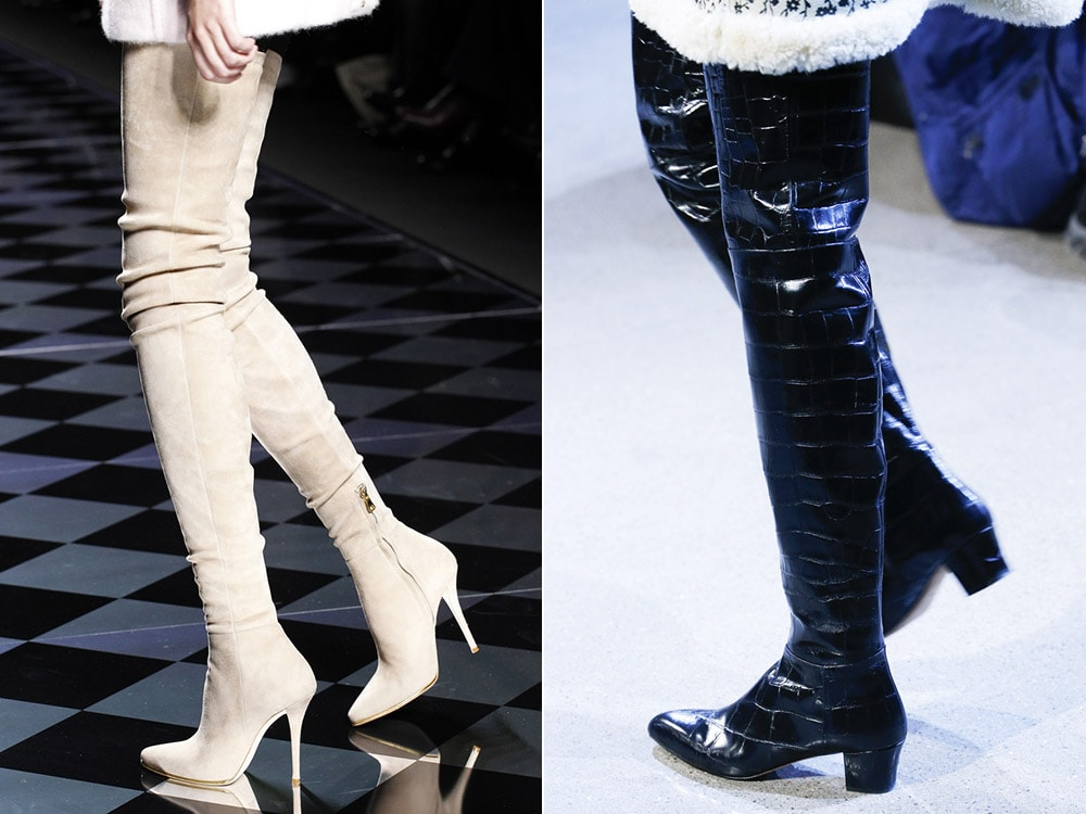 Black knee high boots 2017