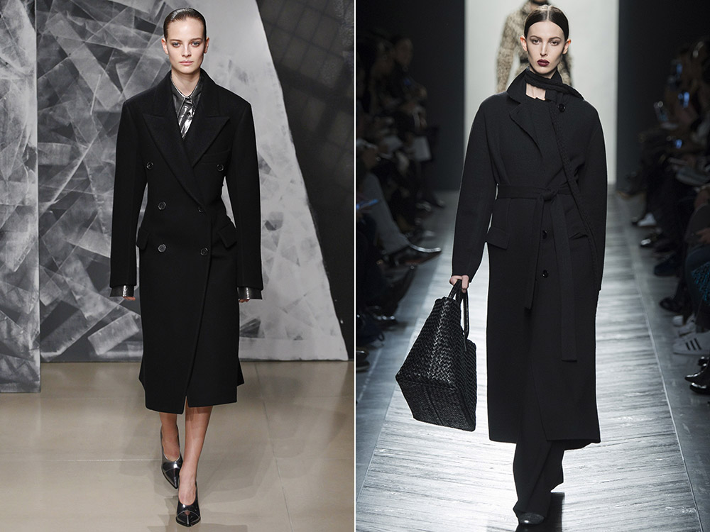 Palton negru clasic