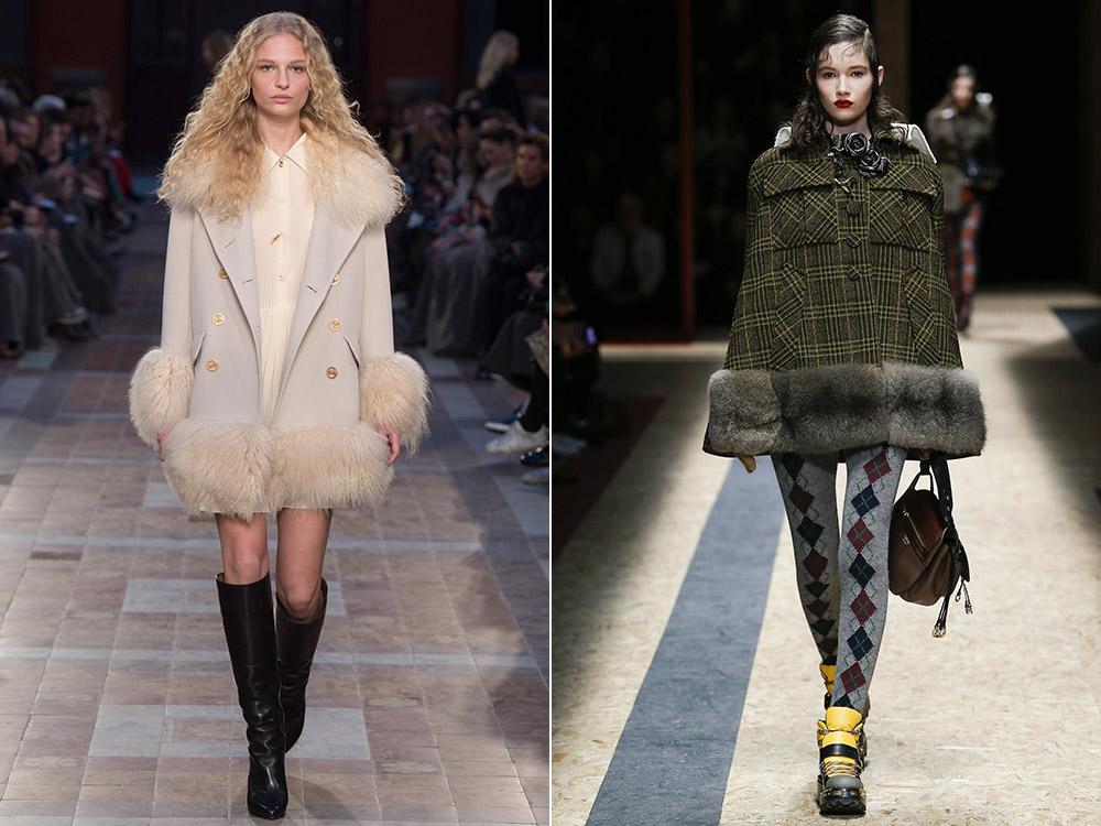 Palton fete cu blana