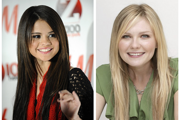Selena Gomez si Kirsten Dunst vedete cu forma rotunda a fetei