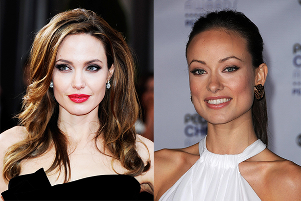 Angelina Jolie si Olivia Wilde au forma patrata a fetei