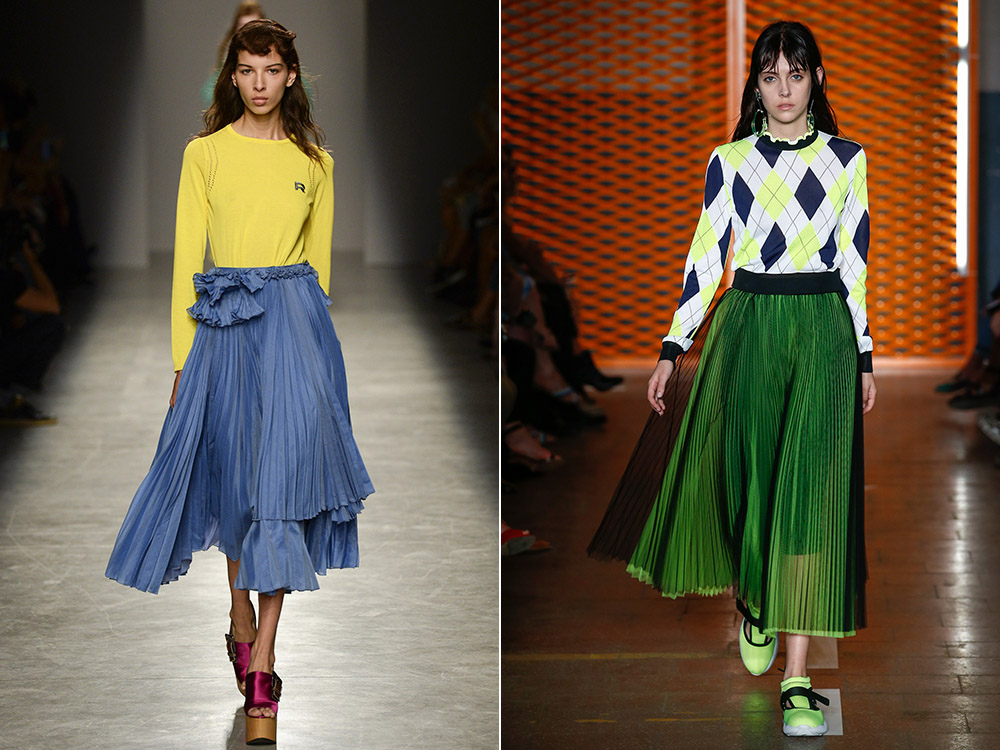 Fuste plisate la moda 2017