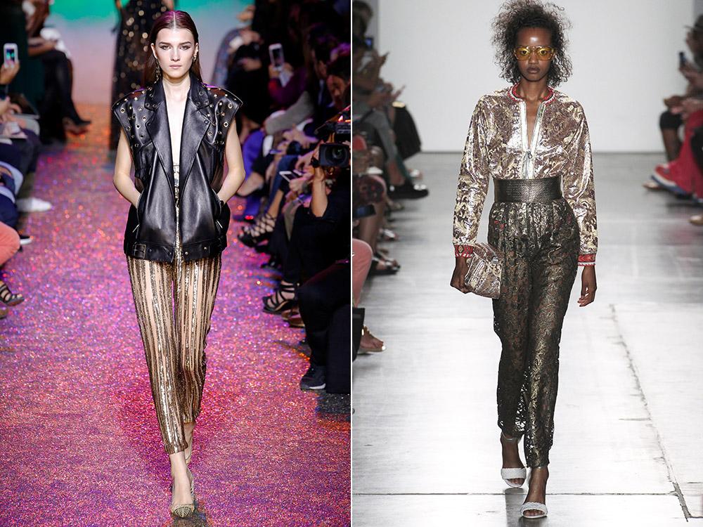 Pantaloni 2017 culoare metalica