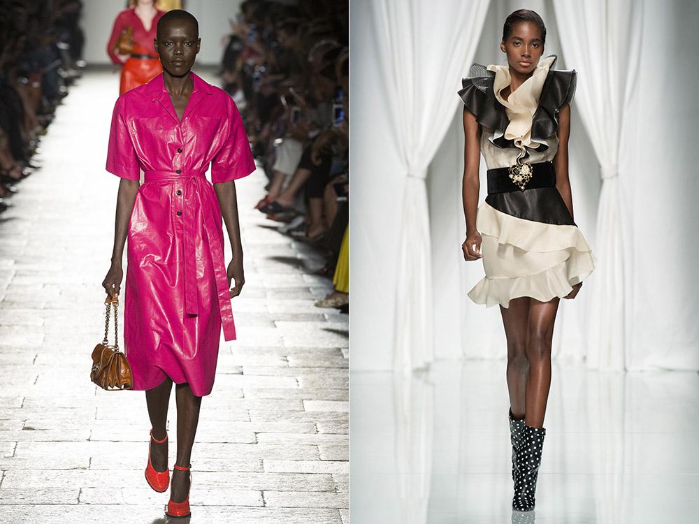Rochii din piele la moda in 2017