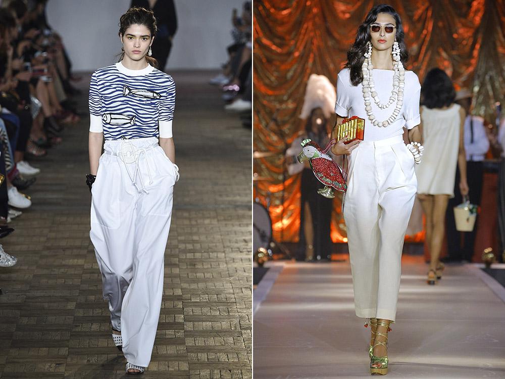 Pantaloni dama albi eleganti
