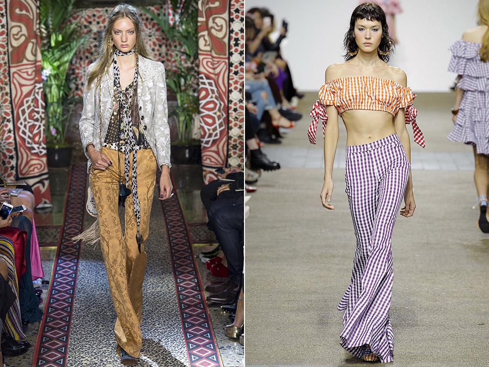 Pantalonii evazati la moda in 2017