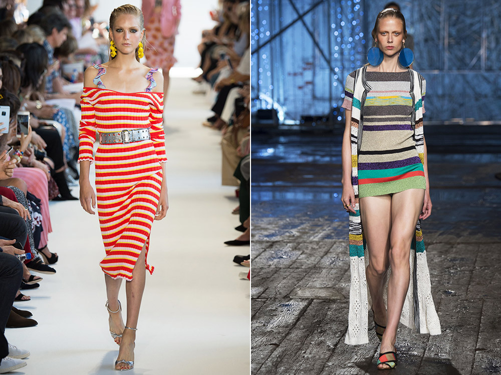 haine cu imprimeu dungi orizontale