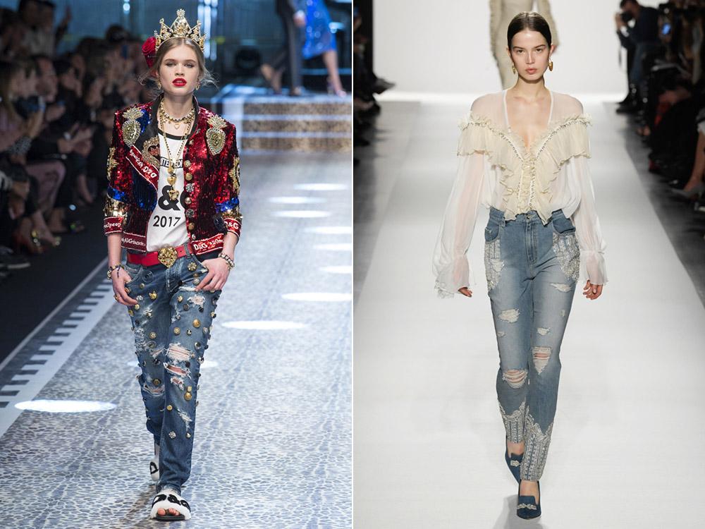 Blugi rupti la moda in 2018
