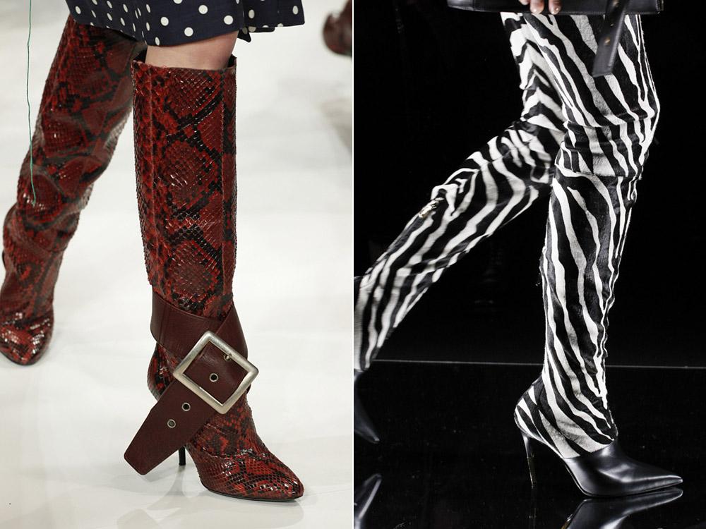 Modele cizme dama cu imprimeu animal