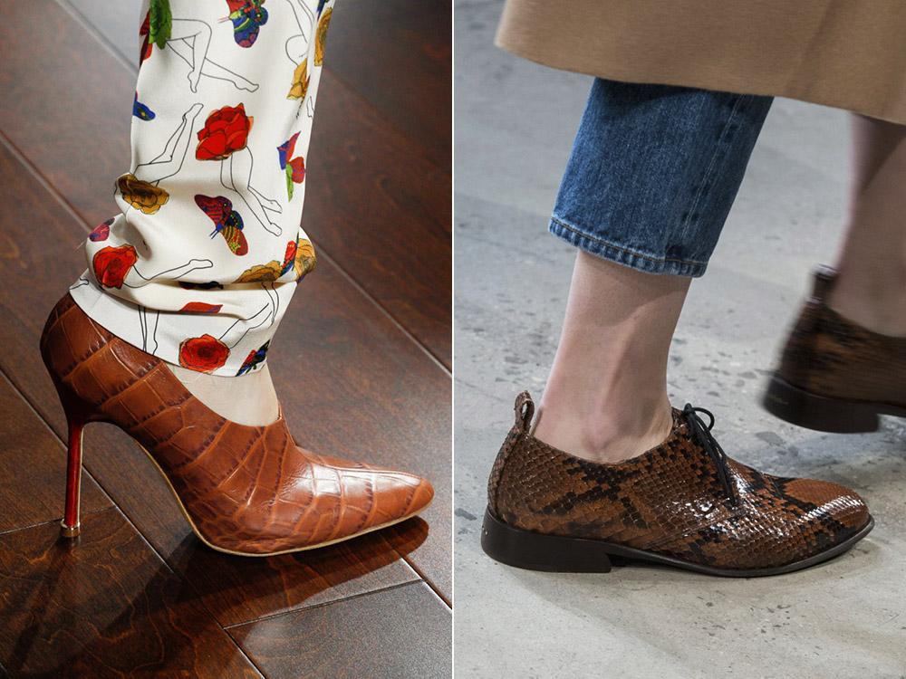 Pantofi dama 2018 din piele de reptila