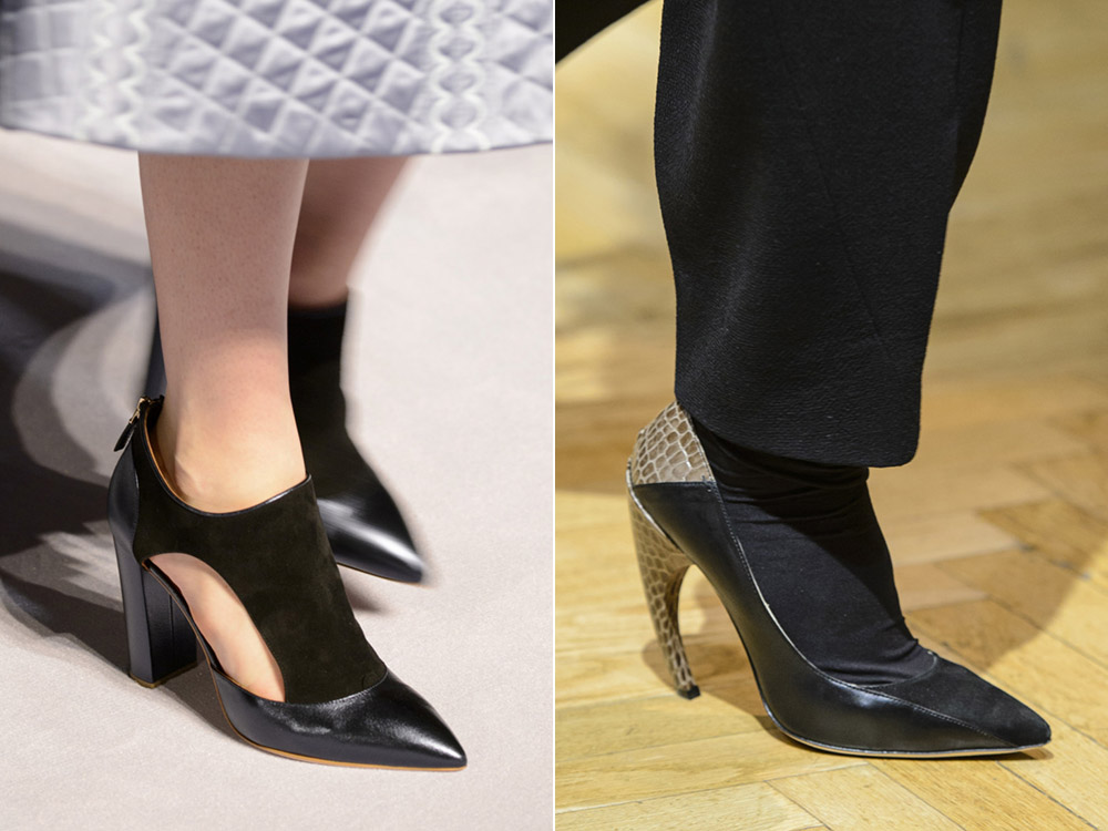Pantofi cu varful ascutit toamna iarna 2017 2018