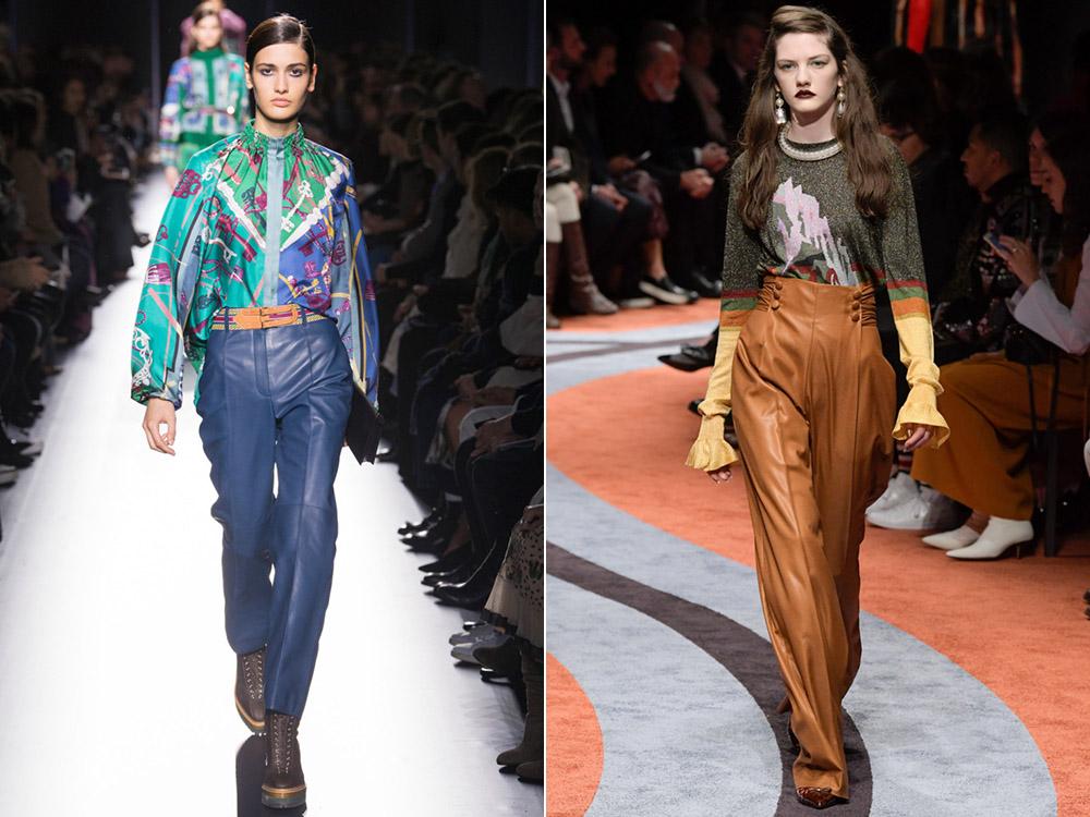 Pantaloni piele dama toamna iarna 2017 2018