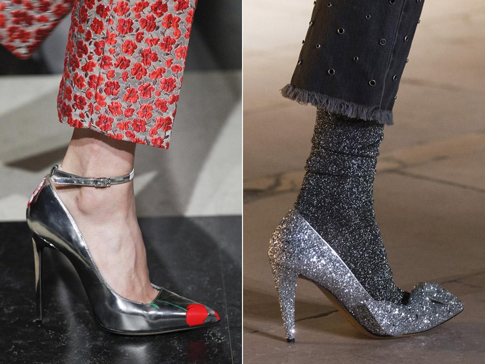 Pantofi 2018 nuante metalice