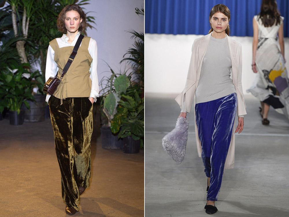 Pantaloni catifea toamna iarna 2017 2018