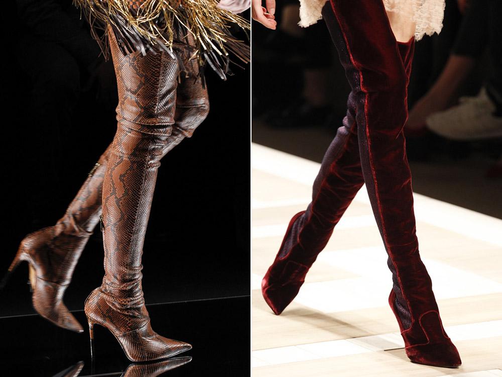 Cizme peste genunchi la moda