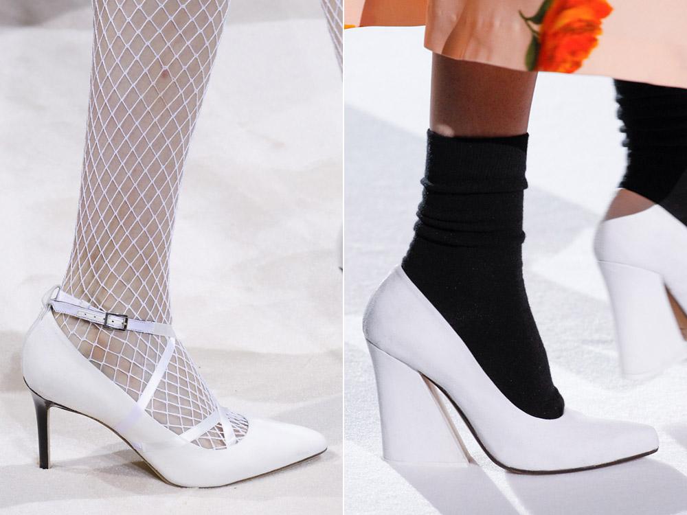 Pantofi albi toamna iarna 2017 2018