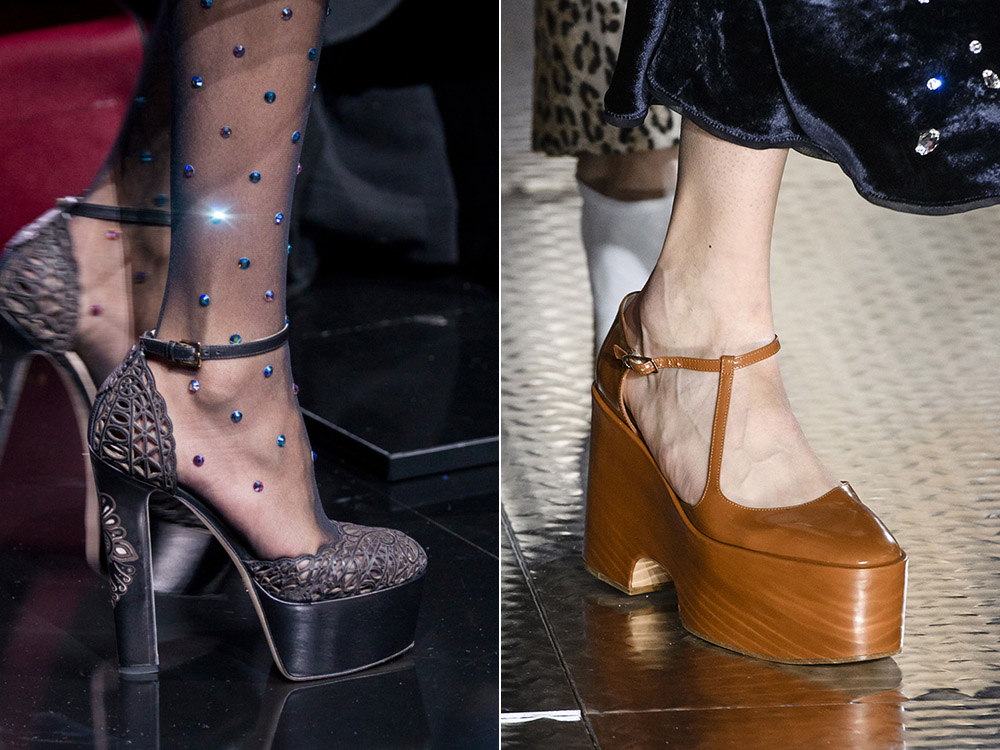 Pantofi cu toc si platforma toamna iarna 2017 2018