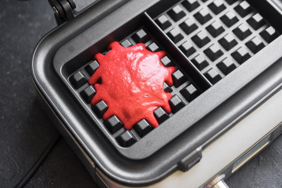 11 Red velvet waffles