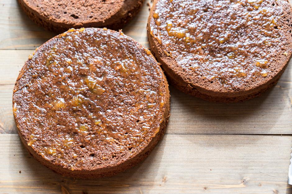 15 Tort cu ciocolata cu caise si ganas