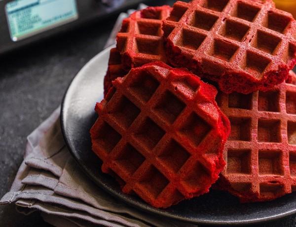Red velvet waffels