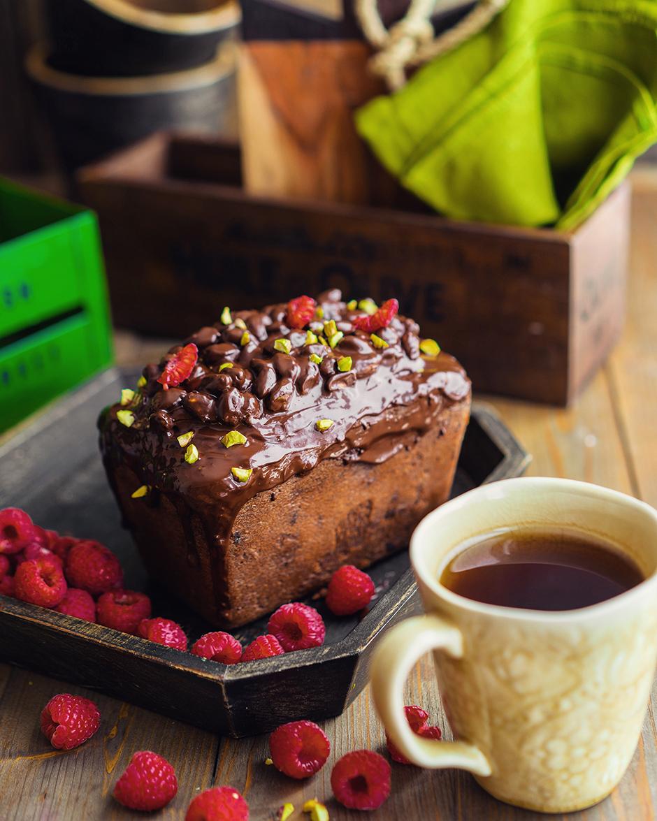 19 Chec de ciocolată cu nuci și zmeură
