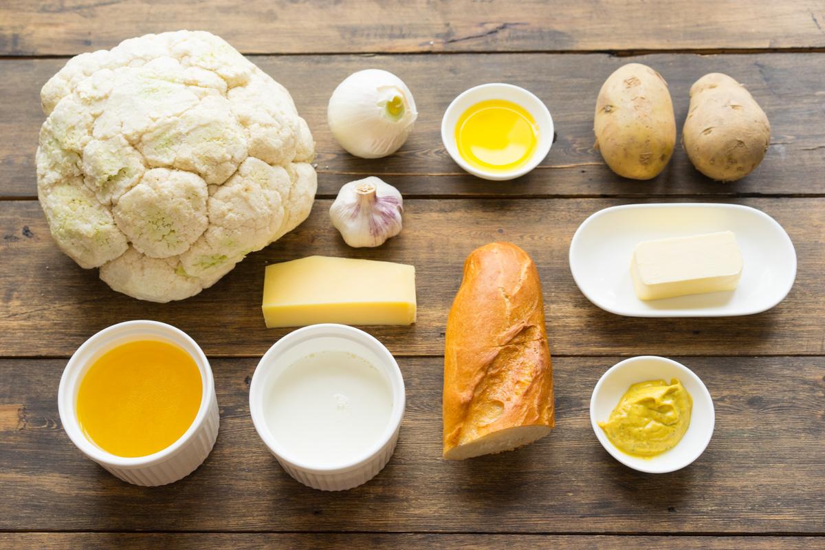 1 Supa crema de conopida si pesmeti cu mustar