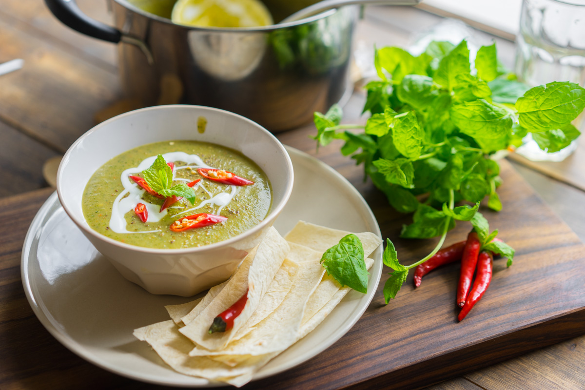 11 Supa crema de zucchine si menta