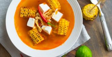 Supa cu ardei si porumb