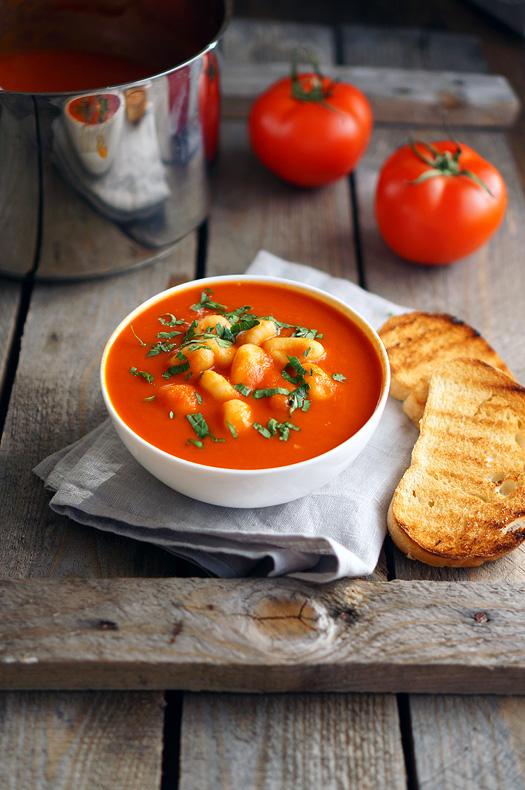 14 Supă cremă de Roșii cu Gnocchi